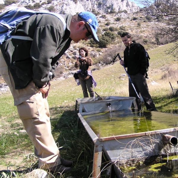Voluntarios en el seguimiento de anfibios.