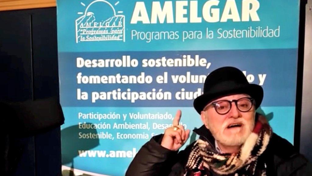 Moncho Borrajo apoyando el proyecto Ocio Inclusivo de AMELGAR