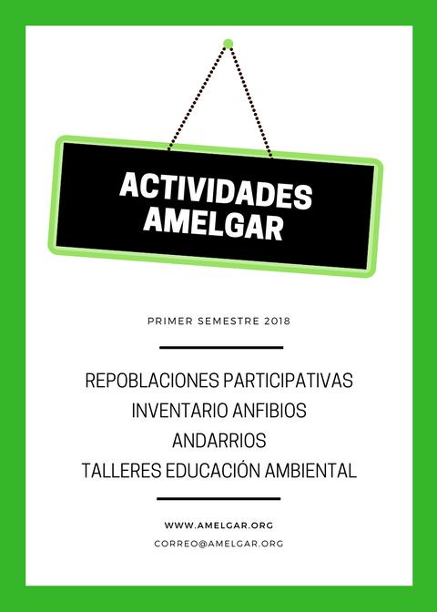 Actividades Amelgar, Primer trimestre 2018