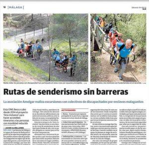 Artículo DiarioSur Ocio Inclusivo AMELGAR 2016